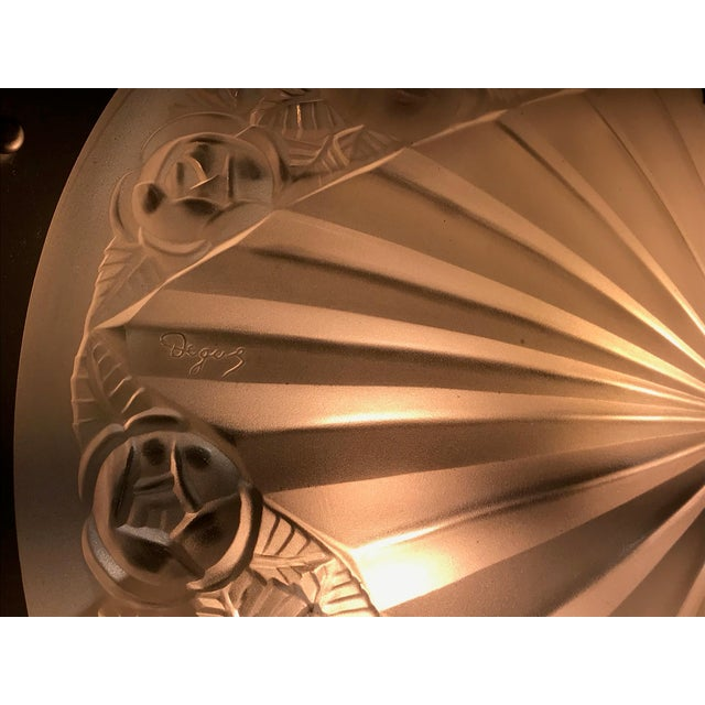 French Art Deco Starburst Chandelier by Degué For Sale - Image 12 of 13