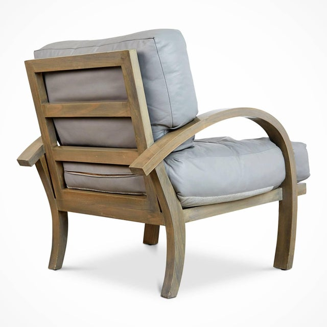 1980s 1984 Leather Lounge Chairs for Steve Chase Designed Home - a Pair For Sale - Image 5 of 10