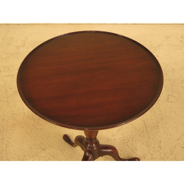 Kittinger Cw-11 Colonial Williamsburg Mahogany Tilt Top Table - Image 7 of 11