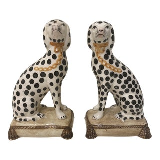 Vintage 1980s Porcelain Bookends - a Pair For Sale