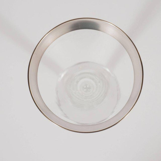 1950s Mid-Century Sterling Silver Overlaid Martini/Wine Glasses by Dorothy Thorpe For Sale - Image 5 of 8