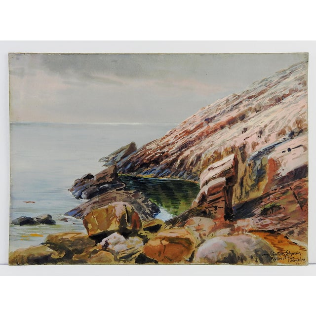 1907 Leopold Schwerin Swedish Coastal Scene Painting - Image 4 of 4
