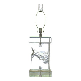 Sculptural Clear Lucite Table Lamp For Sale