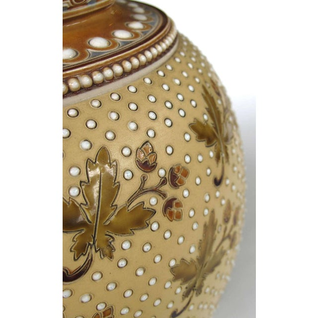 Good Quality Pair of German Mettlach Pottery Ewers With Impressed Maker's Mark For Sale In San Francisco - Image 6 of 8