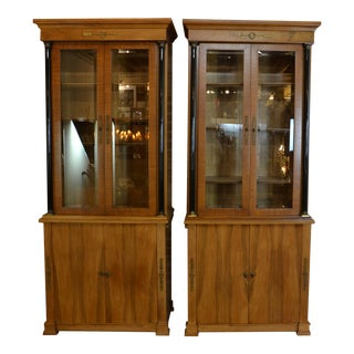 Pair of French Empire Style Bookcase For Sale