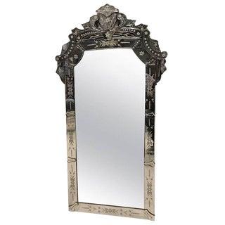 1940s Italian Vintage Venetian Beveled Glass Mirror