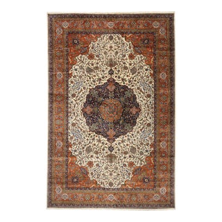 Vintage Romanian Palace Size Rug, 12'00 X 18'05 For Sale