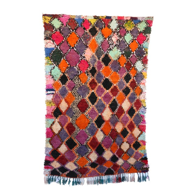1980s 1980s Vitnage Moroccan Boujad Rug - 5′6″ × 8′11″ For Sale - Image 5 of 5