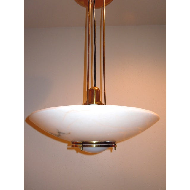 Lightolier Alabaster Pendant Light - Image 2 of 9
