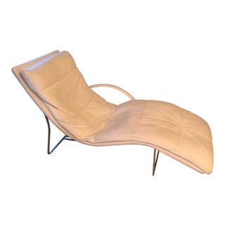 Roche Bobois Leather Chaise Lounge For Sale