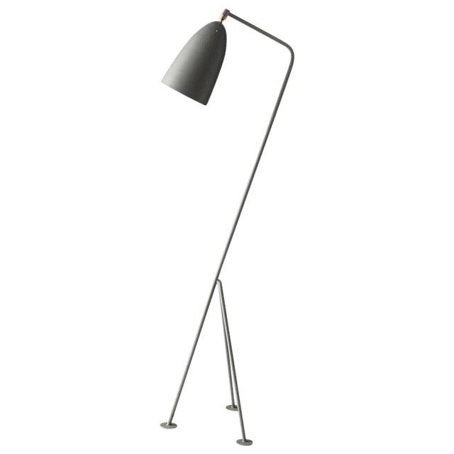 Greta Magnusson Grossman 'Grasshopper' Floor Lamp in Dusty Blue For Sale