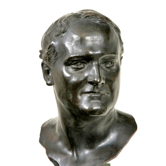 A wonderful life size bronze bust of a tenor and artist that lived in Europe early in the twentieth century. This bust is...