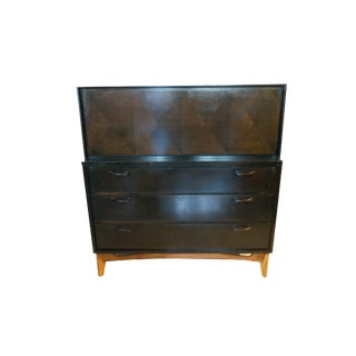 Mid Century Modern Red Lion Tall Dresser For Sale