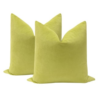 "22"" Citrine Velvet Pillows - a Pair"