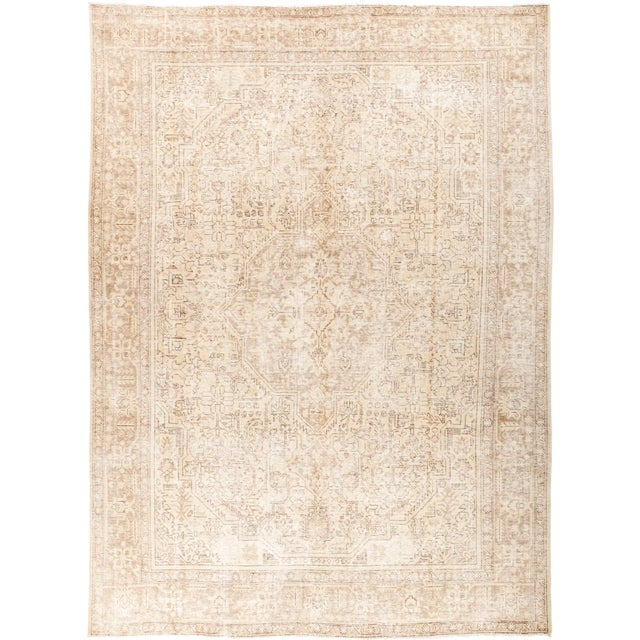 """Vintage Hand Knotted Area Rug - 7' 10"""" X 11' 1"""" For Sale - Image 4 of 4"""