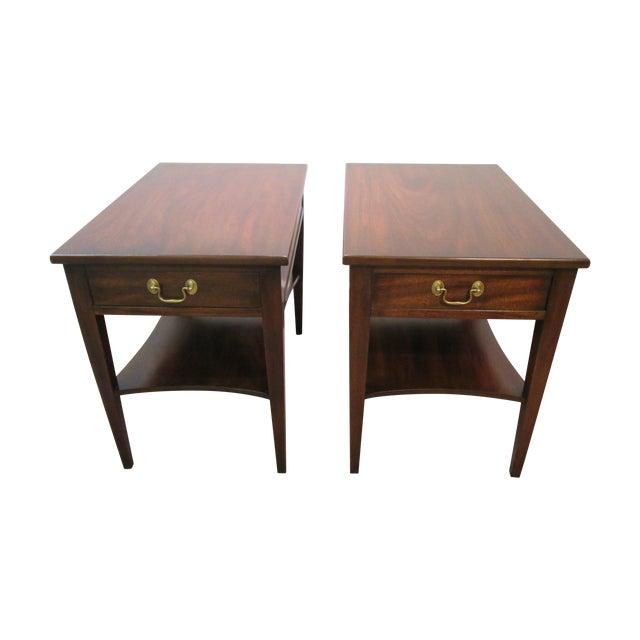 Henkel Harris Wood Side Tables - A Pair - Image 1 of 11
