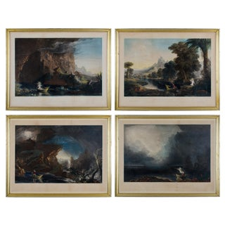 "Thomas Cole ""the Voyage of Life"" Framed Etchings - Set of 4"