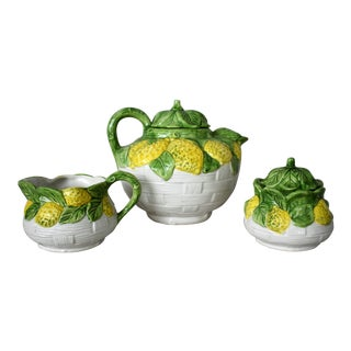 1980s Vintage Italian Lemon Tea Set- 3 Pieces For Sale