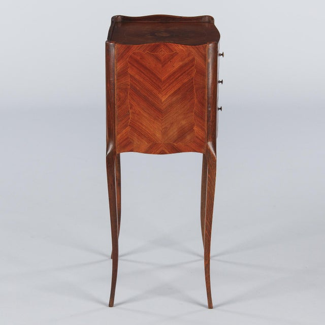 20th Century Louis XV Marquetry Bedside Chest of Drawers For Sale - Image 10 of 13