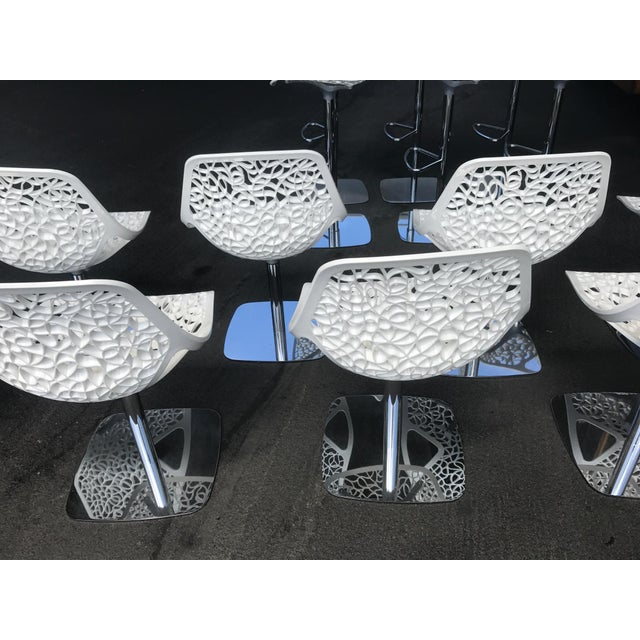 Casprini White Dining Chairs - Set of 8 For Sale In San Francisco - Image 6 of 11