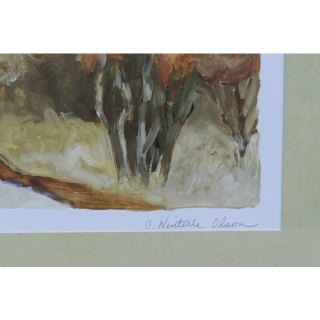 """Tuscan Landscape """"Via Orvieto"""" by C. Winterle Olson For Sale In New York - Image 6 of 8"""