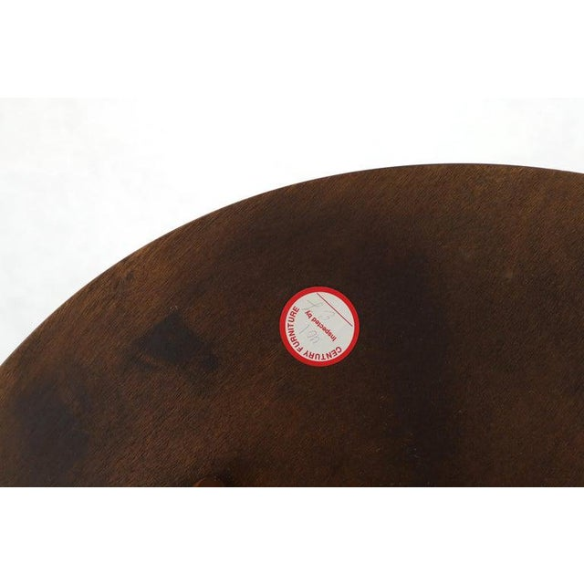 Wood Flame Mahogany Round Top Lamp Table by Century For Sale - Image 7 of 13