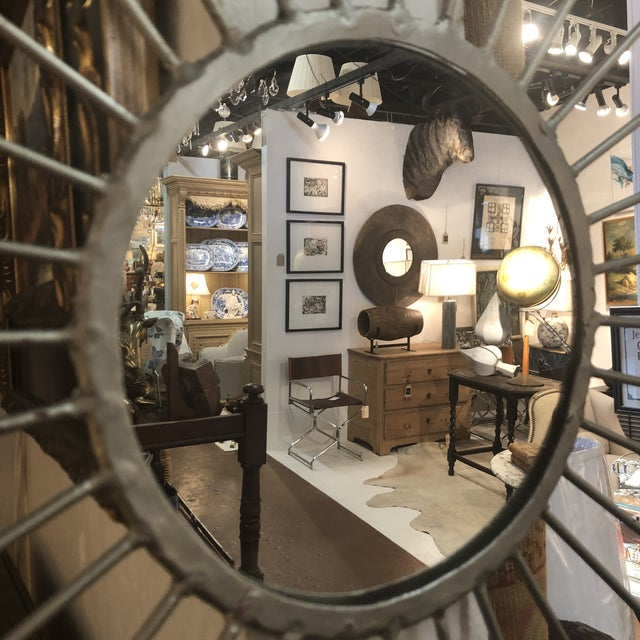 Mid-Century Modern Silver Starburst Mirror For Sale In Atlanta - Image 6 of 13