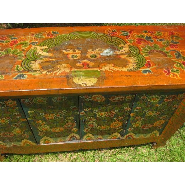 Folk Art Hand Made Dragon Tibetan Chest - Image 3 of 11