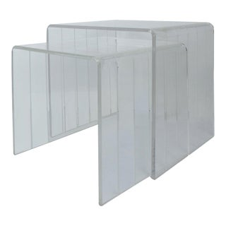 Mid-Century Modern Lucite Nesting Tables - Set of 2