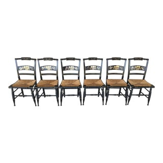 Vintage Nichols & Stone Hitchcock Style Side Chairs - Set of 6 For Sale
