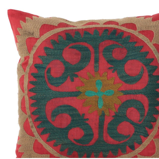Vintage Cotton Embroidered Bolinpush Pillow - Image 2 of 5