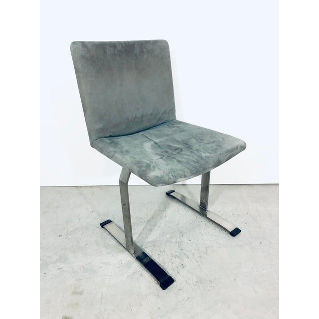 Seven Giovanni Offredi for Saporiti Chrome Dining Chairs For Sale - Image 12 of 12