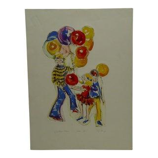 """Balloon Man"" Signed Print"