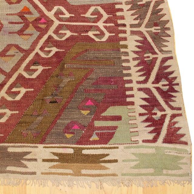 """Islamic Vintage Kayseri Kilim Rug - 5'5"""" x 5'3"""" For Sale - Image 3 of 5"""