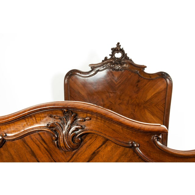 Chippendale Hand Carved Mahogany Matching Single Beds - a Pair For Sale - Image 10 of 13
