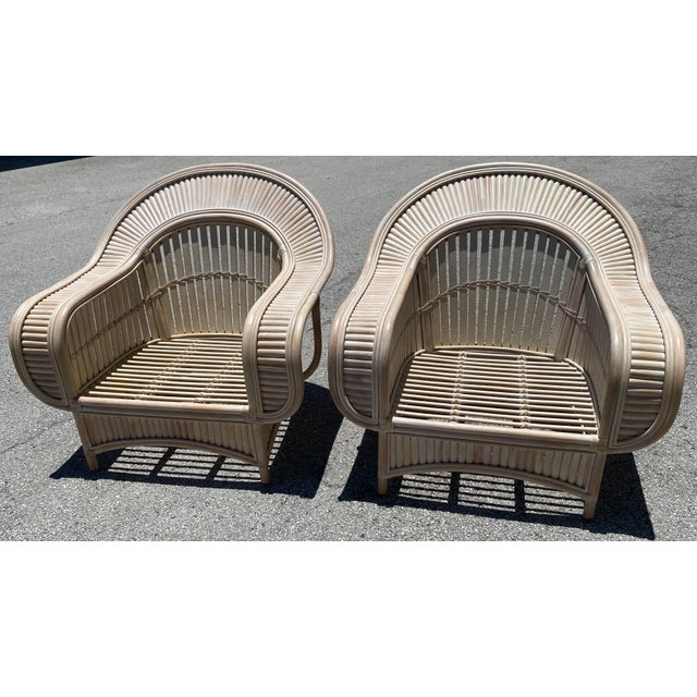 1970s Vintage Bamboo Lounge Chairs - a Pair For Sale - Image 9 of 10