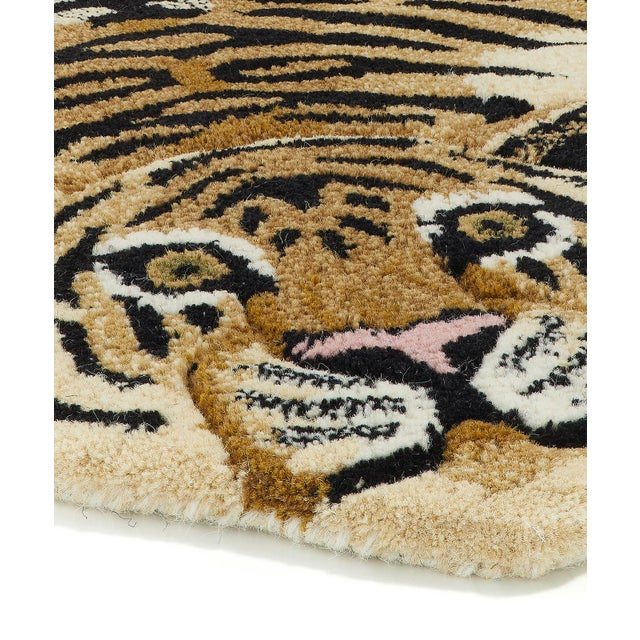 Shabby Chic Doing Goods Drowsy Tiger Rug Large For Sale - Image 3 of 6