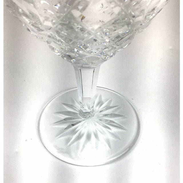 Glass Cut Crystal Heavy Water Glasses - Set of 4 For Sale - Image 7 of 10