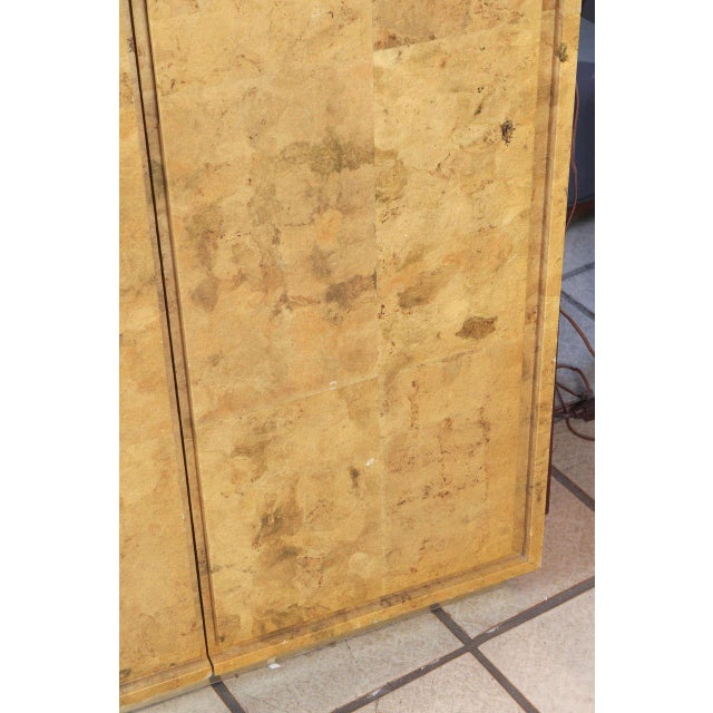 Wood 1980s Glazed Parchment Finish Armoire For Sale - Image 7 of 9