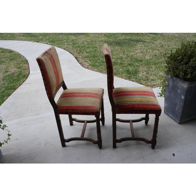 French Country Vintage Spanish Revival Style Chairs - A Pair For Sale - Image 3 of 11