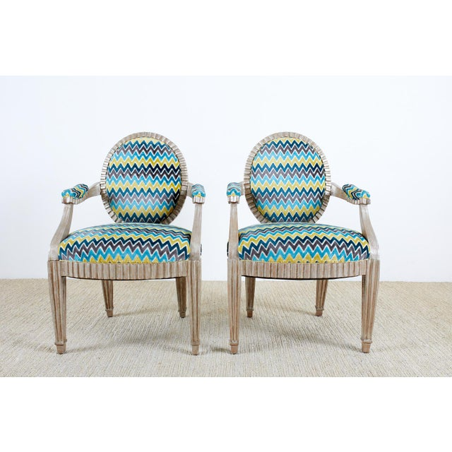 Contemporary Late 20th Century John Hutton for Donghia Silvered Dining Chairs - Set of 10 For Sale - Image 3 of 13