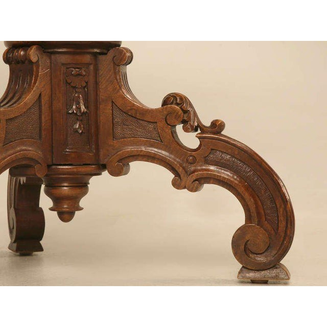 Cherry Wood 19th Century Hand Inlaid Pedestal Table For Sale - Image 7 of 10
