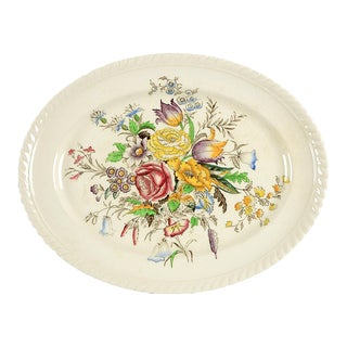 "Johnson Brothers Garden Bouquet 10"" Oval Serving Platter For Sale"