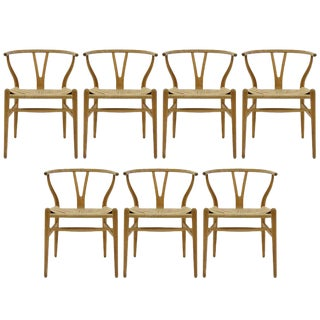 Vintage Mid Century Hans J. Wegner Model Ch-24 Dining Chairs For Sale