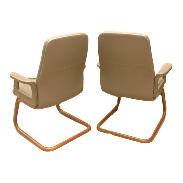 Modern Leather German Chairs - A Pair - Image 5 of 6