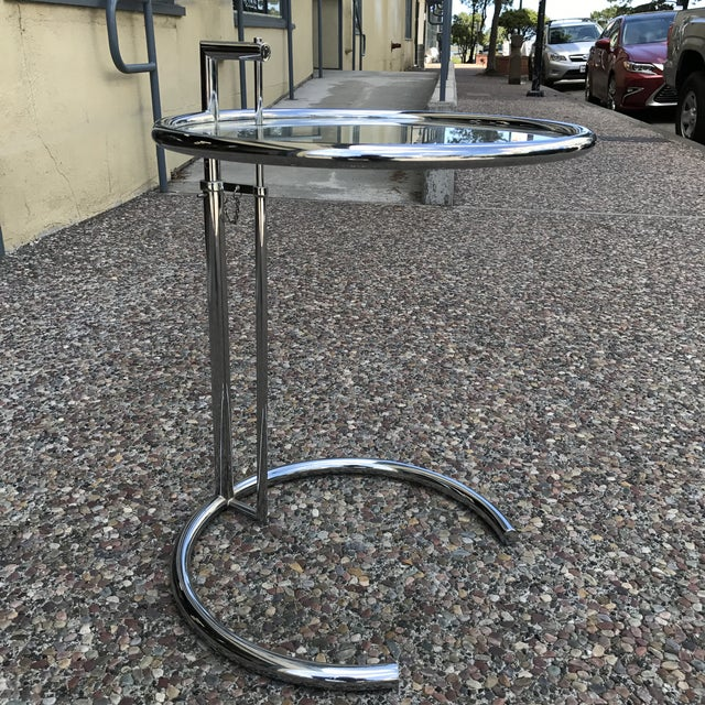 Eileen Gray Eileen Gray Chrome & Glass Side Table For Sale - Image 4 of 11