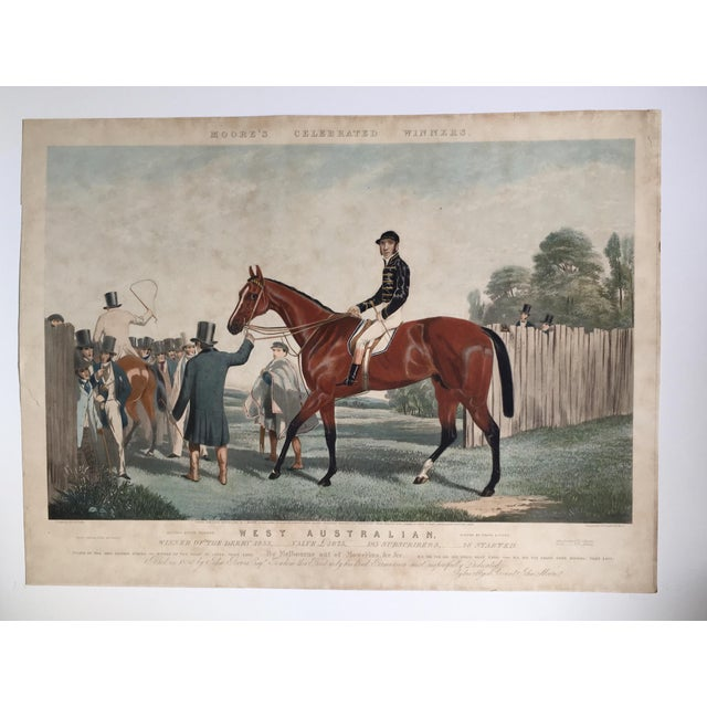 English Horse Racing Print, C1853 For Sale - Image 12 of 13