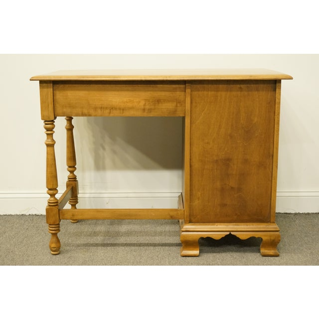 20th Century Early American Sterlingworth Sterling House Collections Colonial Style Solid Maple Writing Desk