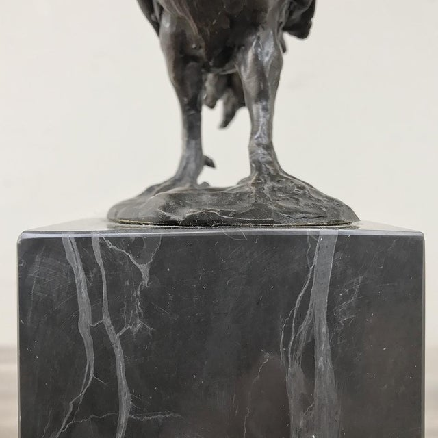 Mid-Century Bronze Statue of Rooster For Sale - Image 11 of 13