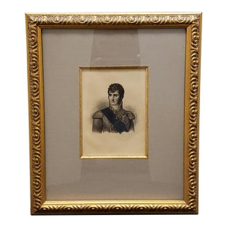 Circa 1880 French Jerome Bonaparte Portrait Photo-Etching After Engraving by William Read For Sale